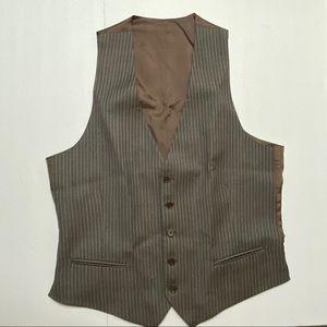 Armani Collezioni Striped Waist Coat Size 42 wool